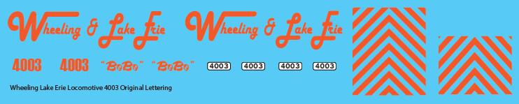Wheeling & Lake Erie 4003 - Old Paint Scheme Decal Set
