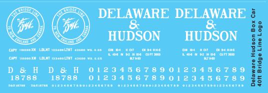 Delaware Hudson Box Car 40ft Bridge Line Logo