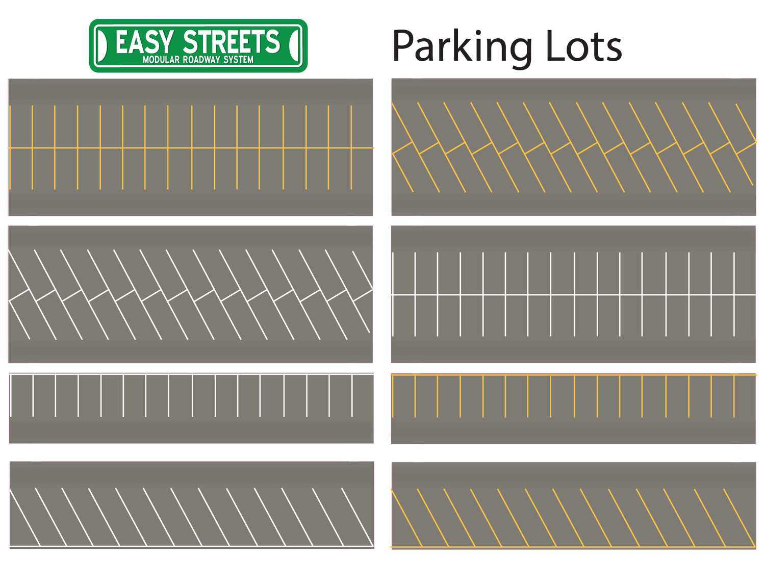 N Scale Easy Streets - Parking