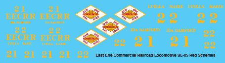 East Erie Commercial SL-85 Red Scheme Decals
