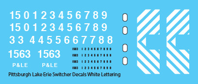 Pittsburgh Lake Erie Loco Switchers White Lettering Decals