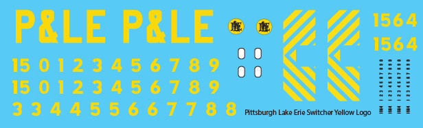 Pittsburgh Lake Erie Loco Switchers Yellow Lettering Decals