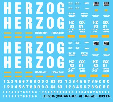 Herzog Open Hopper Ballast 41ft Decals