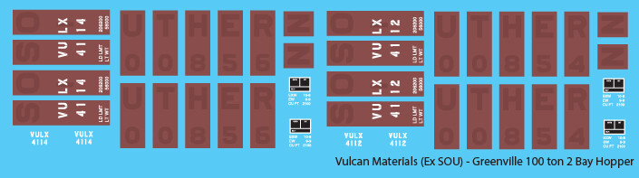Vulcan Minerals Open Hopper 100t ex SOU Patched Decals