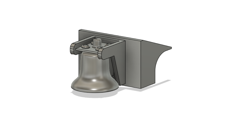 N Scale Train Parts - 2nd Gen Geep Hood Bell (Qty 2)
