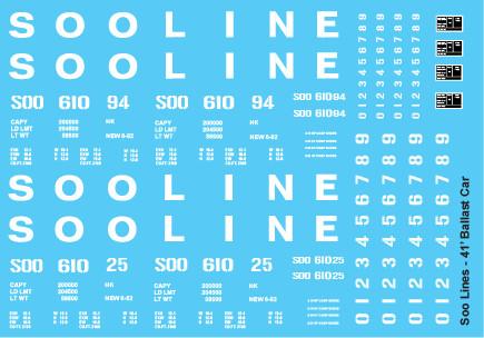 Soo Line Ballast Service Open Hopper Decals