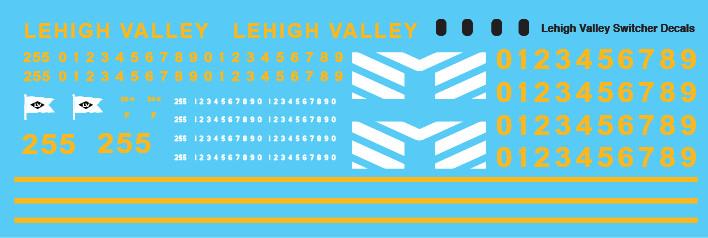 Lehigh Valley Locomotive Switcher Decals