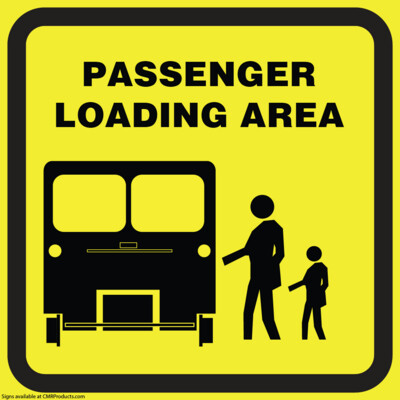 Passenger Loading Area Sign