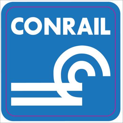 Vinyl Square Conrail (CR) Logo