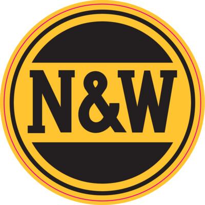 Vinyl Round Norfolk Western (NW) Logo