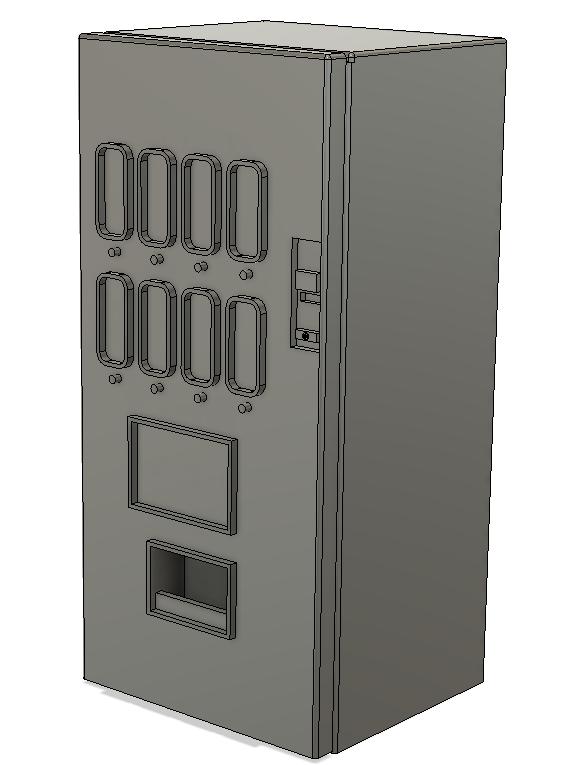 N Scale Detail Parts - Modern Soda Machine (Qty 2)