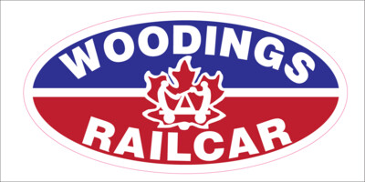 Vinyl Woodings Railcar Sticker