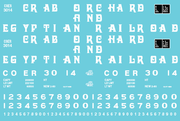 Crab Orchard & Egyptian Red Open Hopper Decals