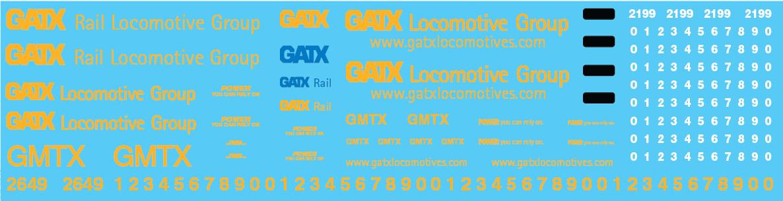 GMTX Locomotive Yellow Patchout Decals