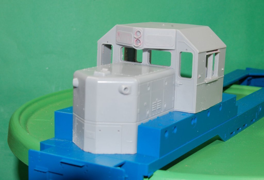 O Scale GP-9 Chop Nose Cab Conversion, Angled Roof Version