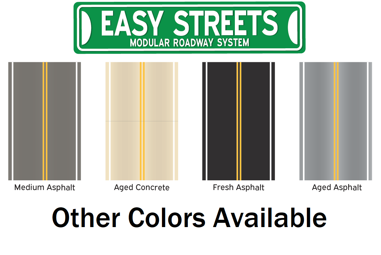 N Scale Easy Streets - Turn Lanes
