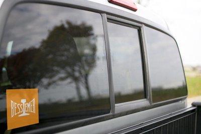 Vinyl Sticker - Bessemer & Lake Erie (BLE) Orange Rail Logo