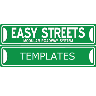 Easy Streets - HO Road Templates