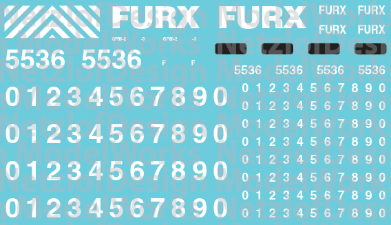 HO Scale - First Union Rail (FURX) GP38-2 Decals