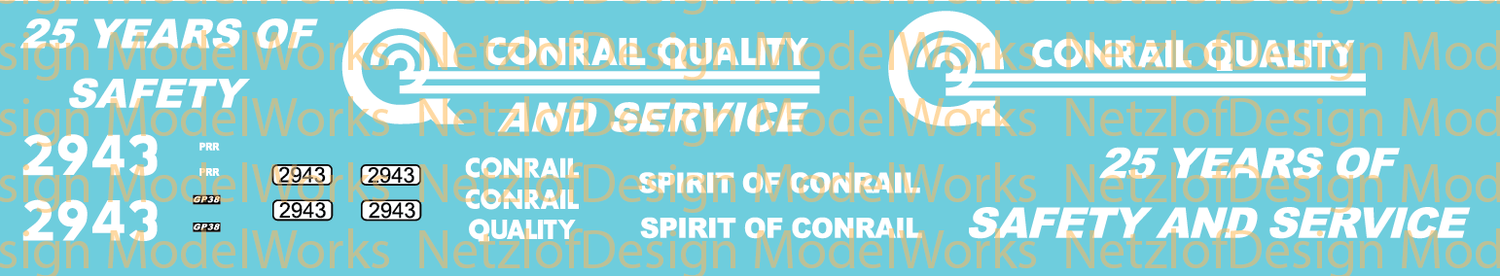 Norfolk Southern (NS) #2943 Spirit of Conrail Decal Set