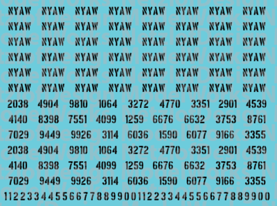 Customizable Reporting Marks - Stencil Font