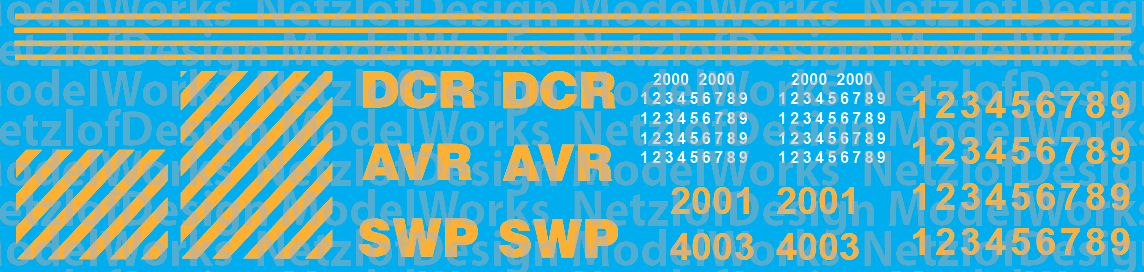Allegheny Valley, Southwestern Pennsylvania and Delmarva Central Decal Set