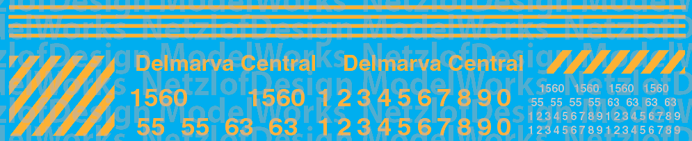 Delmarva Central Railroad Switcher Decal Set