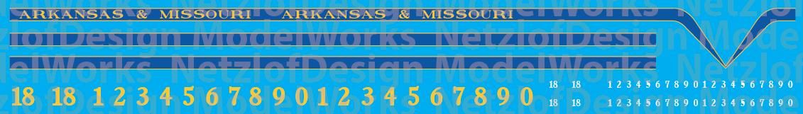 Arkansas & Missouri T6 Locomotive Decals