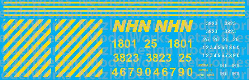 New Hampshire Northcoast Locomotive Decals (2016+)