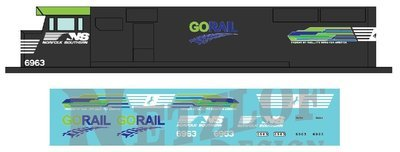 Norfolk Southern SD60E Decal Set - GO Rail NS 6963
