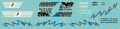Norfolk Southern AC44C6M Decal Set #4004/4005 (Black/Blue)
