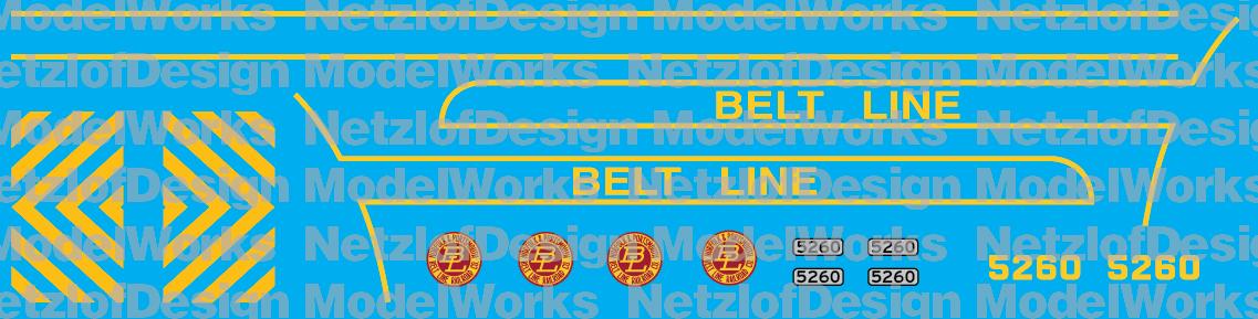 Norfolk & Portsmouth Belt Line GP38-2 #5260 (NPBL) Decal Set