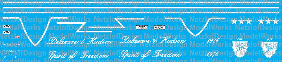 Delaware & Hudson Bicentennial RS3u #1976 Decal Set
