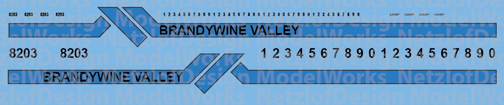Brandywine Valley Switchers Orange & Blue paint Scheme