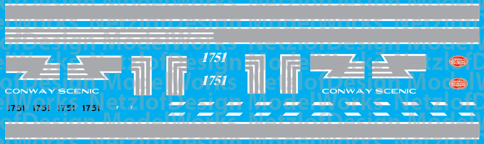 Conway Scenic Railroad GP9 #1751 Locomotive Decals (NYC Style)