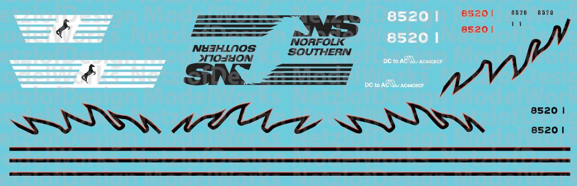 Norfolk Southern AC44C6CF 8520 & 8521 (Red/Black)
