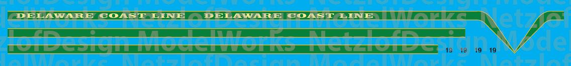 Delaware Coast Line T6 Locomotive Decals