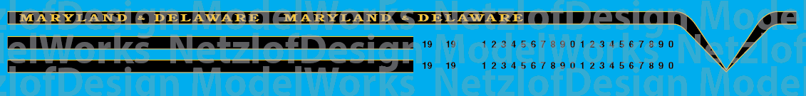 Maryland & Delaware T6 Locomotive Decals