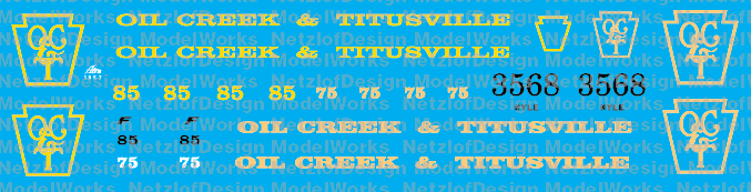 Oil Creek & Titusville Locomotive Decal Set