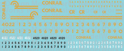 HO Scale - Conrail OCS/Business Train Decal Set