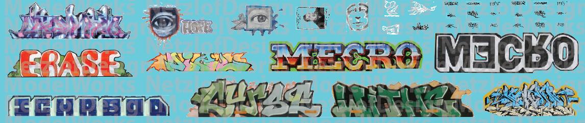 Modern Large Graffiti Set 2