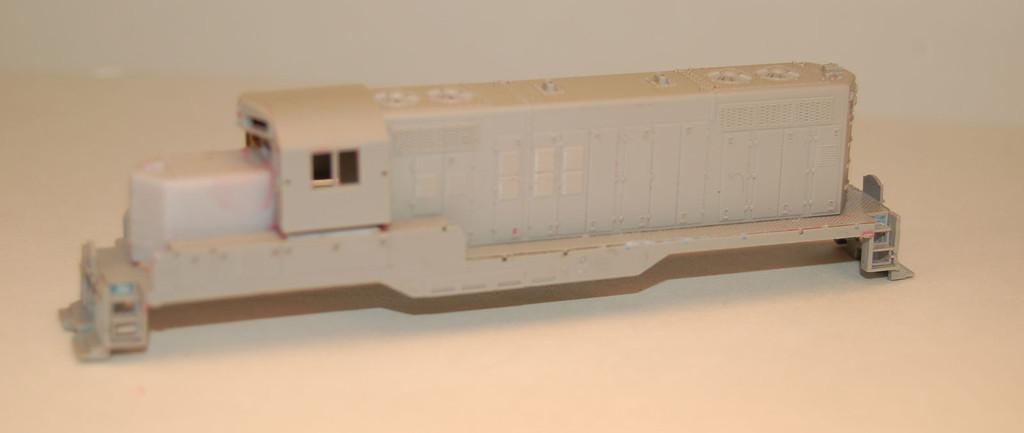 N Scale Trains, GP9 Chop Nose w/o DB Locomotive Shell, by CMR Products