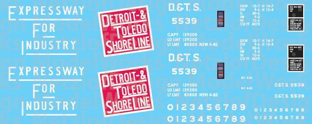 Detroit, Toledo and Shore Line 50' Box Car Decals