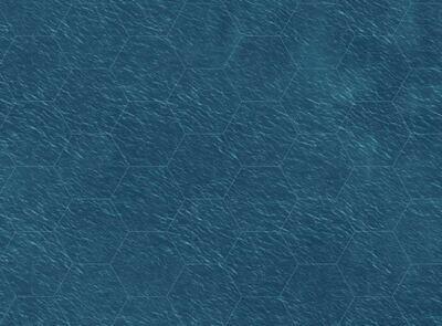 Sea 59x32 inches  feet 3 inch hex