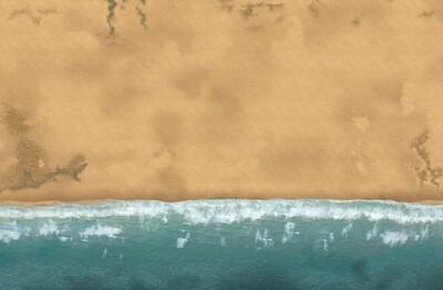 Sandy Coastal 6x4 Cloth
