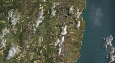 Lulworth aerial coastal 6x4 cloth