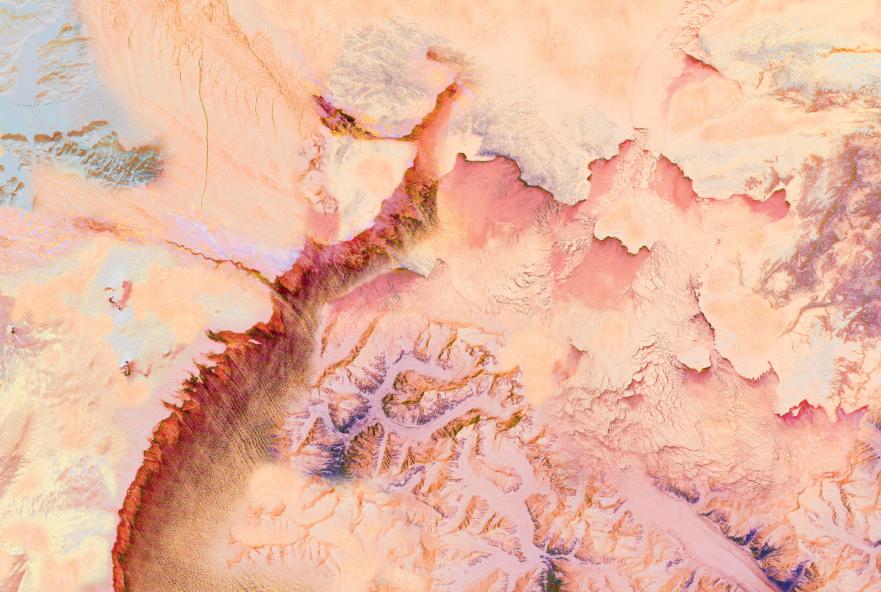 Mars Craters 6x4 cloth