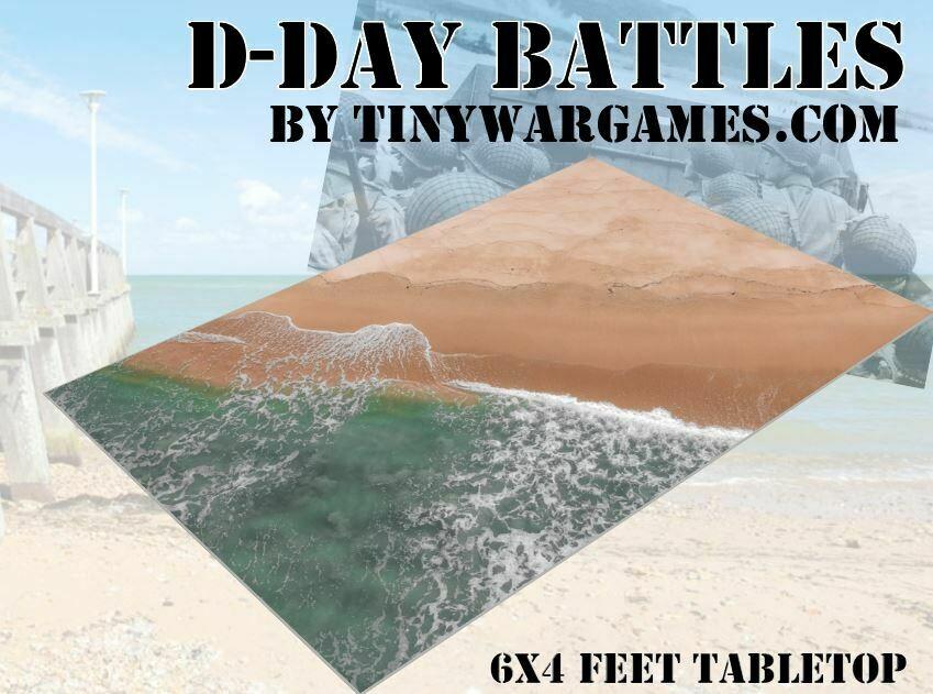 D Day Battles Beach A Realistic 6x4