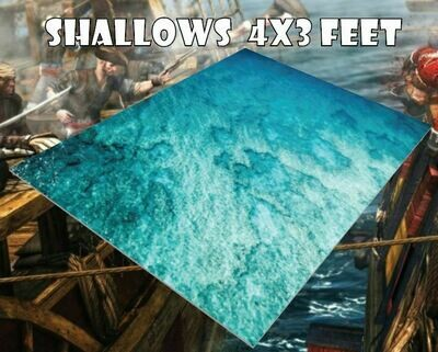Shallows Sea Mat 4x4 lino