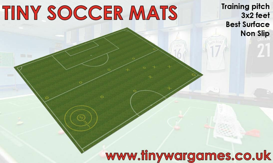 Subbuteo training pitch 3x2 feet approx rubber